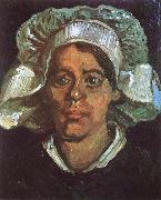 Vincent Van Gogh Head of a Peasant Woman with White Cap (nn04) oil painting reproduction