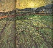 Enclosed Field with Risihng Sun (nn04), Vincent Van Gogh