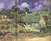 Thatched Cottages in Cordeville (nn04), Vincent Van Gogh