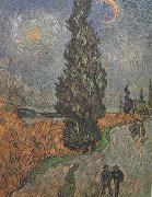 Roar with Cypress and Star (nn04), Vincent Van Gogh