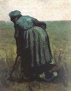 Peasant Woman Digging (nn04), Vincent Van Gogh