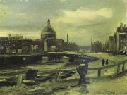 View of Amsterdam from Central Station (nn04), Vincent Van Gogh