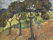 Landscape with Tree and  Figures (nn04), Vincent Van Gogh