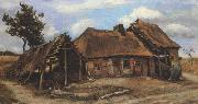Cottage with Decrepit Barn and Stooping Woman (nn04)