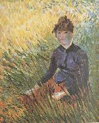 Woman sitting in the Grass (nn04), Vincent Van Gogh