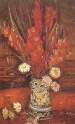 Vase with Red Gladioli (nn04), Vincent Van Gogh