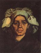 Head of a Peasant Woman with Whit Cap (nn040, Vincent Van Gogh