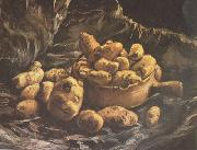 Vincent Van Gogh Still life with an Earthen Bowl and Potatoes (nn04) oil painting reproduction
