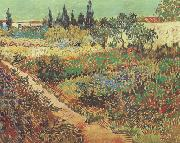 Flowering Garden with Path (nn04), Vincent Van Gogh