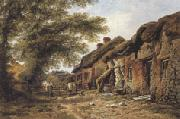 William Pitt Old Cottages at Stoborough,Dorset (mk37) oil painting