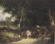 William Shayer Carging Timber in the New Forest (mk37) oil painting