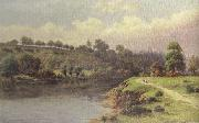 William henry mander A Stroll along the Riverbank (mk37) oil painting