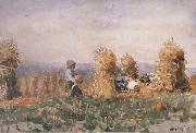 Winslow Homer Pumpkin Patch (mk44) oil painting reproduction