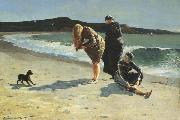 Eaglehead,Manchester,Massachusetts (High Tide:The Bathers) (mk44), Winslow Homer