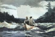 Canoe in Rapids (mk44), Winslow Homer