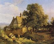 Adrian Ludwig Richter Church at Graupen in Bohemia