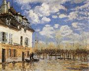 Alfred Sisley The Bark during the Flood
