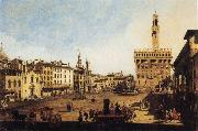 Bernardo Bellotto Piazza della Signoria in Florence oil painting reproduction