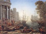 Claude Lorrain Seaport with the embarkation of Saint Ursula