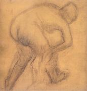 Woman drying herself, Edgar Degas