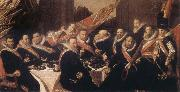 Banquet of the Office of the St George Civic Guard in Haarlem, Frans Hals
