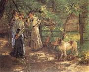 Fritz von Uhde In the Garden oil painting