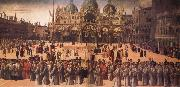 Procession in St Mark's Square, Gentile Bellini