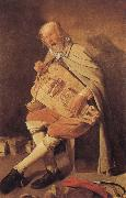 Georges de La Tour Hurdy-Gurdy Player oil painting reproduction