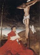 Cardinal Albrecht of Branden-burg before the Crucifiel Christ, Hans holbein the younger
