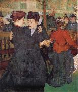 Henri de toulouse-lautrec Two Women Dancing at the Moulin Rouge oil painting reproduction