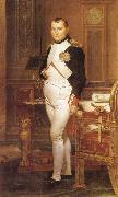 Jacques-Louis David Napoleon in his Study oil painting