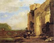 Italian Landscape with the Ruins of a Roman Bridge and Aqueduct