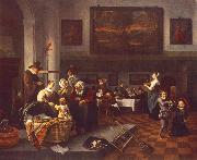 Jan Steen The Christening oil painting reproduction