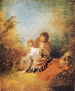 The Indiscretion, Jean-Antoine Watteau