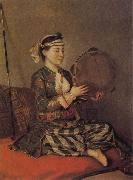 Turkish Woman with a Tambourine, Jean-Etienne Liotard