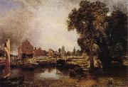 John Constable Dedham Lock and Mill