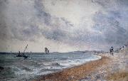 Hove Beach,withfishing boats