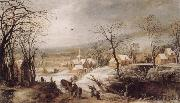 Joos de Momper Winter Landscape oil painting reproduction