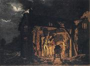 An Iron Forge Viewed from Without, Joseph wright of derby