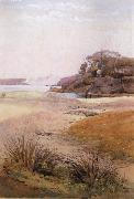 Julian Ashton View of Narth Head,Sydney Harbour 1888 oil painting