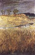 Max Klinger Landscape at the Unstrut oil painting