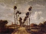 Meindert Hobbema Avenue at Middelharnis oil painting reproduction