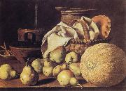 Still Life with Melon and Pears, Melendez, Luis Eugenio