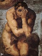 Michelangelo Buonarroti Damned soul descending into Hell oil painting reproduction