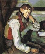 Boy with a Red Waistcoat, Paul Cezanne