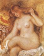 Bather with Long Blonde, Pierre-Auguste Renoir