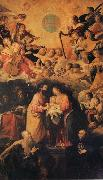 ROELAS, Juan de las Adoration of the Name of Fesus oil painting