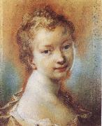 Rosalba carriera Portrait of a Young Girl oil painting