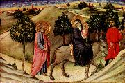 SANO di Pietro Flight to Egypt  predella panel oil painting