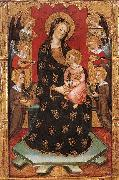 SERRA, Pedro Madonna with Angels Playing Music oil painting